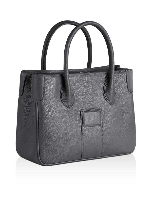 borsa Charleston in pelle grigia