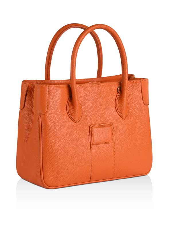 borsa Charleston in pelle arancione