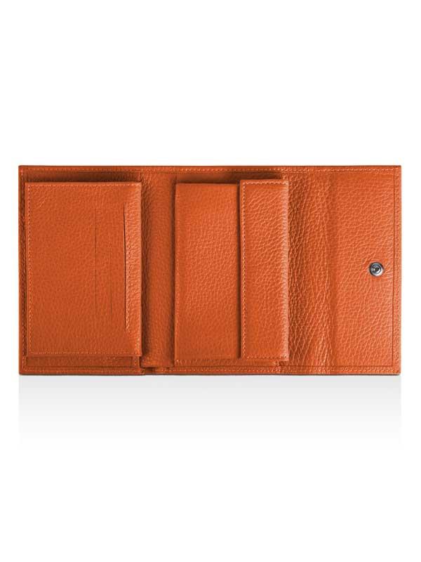 Portafoglio in pelle arancione
