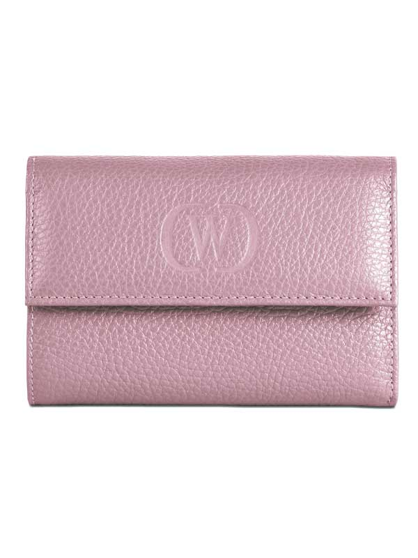 Portafoglio in pelle rosa cipria