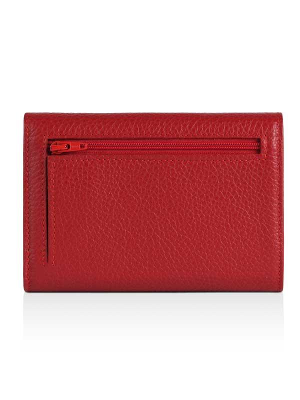 Retro portafoglio rosso