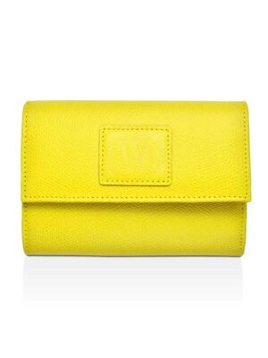 portafoglio in pelle gialla