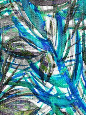 sciarpa blu e turchese