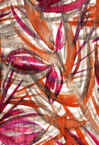 sciarpa sui toni dell'arancio