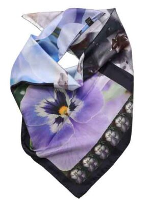 foulard a fiori in seta