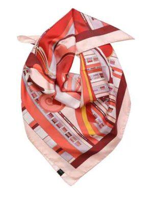foulard in seta Coral