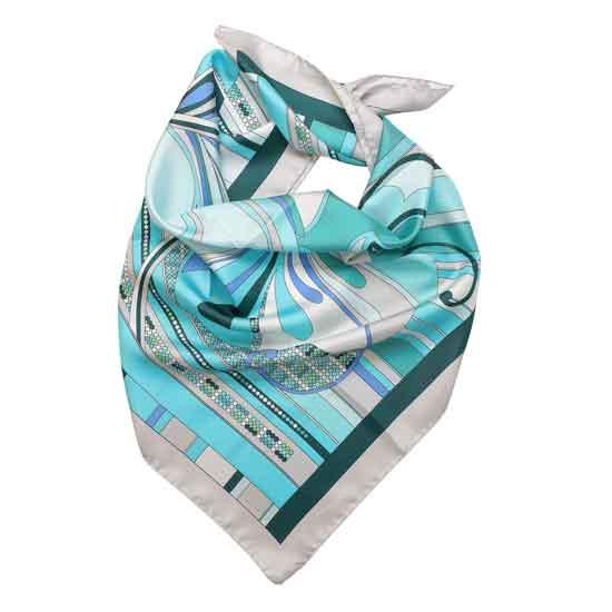 foulard verde acqua