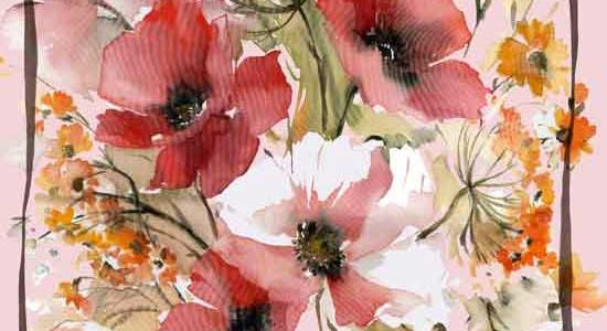 maxi foulard Poppy versione Red