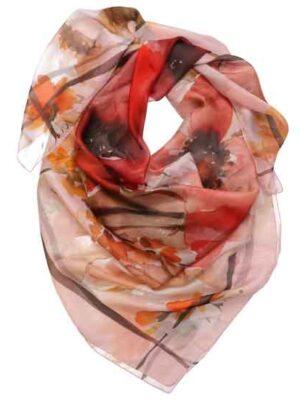 foulard Poppy effetto indossato