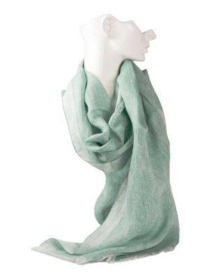 Sciarpa lino verde