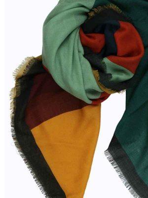 Foulard 130x130 lana petrolio (1)