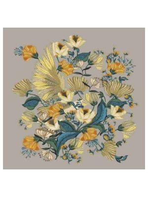Foulard 140x140 fiori gialli
