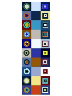 Foulard 55x190 forme blu