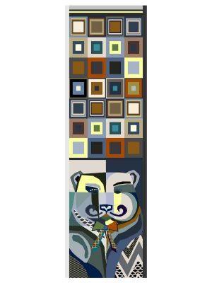 Foulard 60x200 bear blue