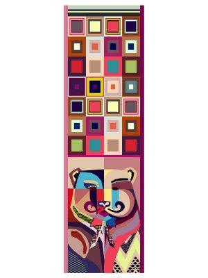 Foulard 60x200 bear pink (1)
