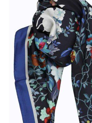 Foulard 90x90 flowers blu (1)