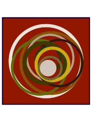 Foulard cerchi arancio 100x100