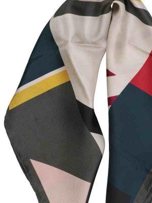 Foulard geometrico 53x53 grey