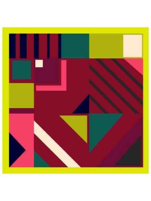 Foulard geometrico 53x53 lime