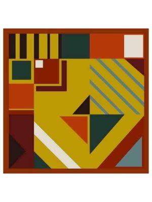 Foulard geometrico 53x53 orange